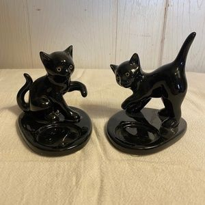 Partylite Black Cat Tea Light holder Set